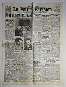 N964-La-Une-Du-Journal-Le-petit-Parisien-23-novemb-1916-mort-de-Francois-Joseph
