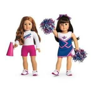 American Girl Truly Me 2-in-1 Cheer Gear Cheerleading Outfit Pompoms Set 887961131727