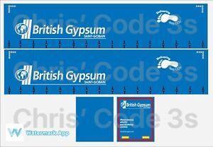 British Gypsum 1//50 1//76 1//148 Code 3 Adhesive Vinyl Trailer Decal