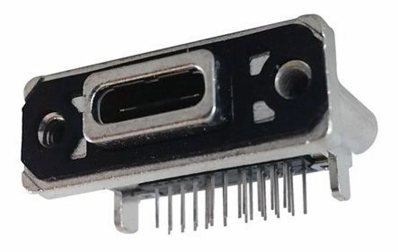 MUSBR-M1C1-30 Female USB C Connector, Right Angle PCB Mount IP67