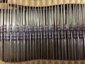100pcs-x-39K-Mil-Spec-High-Reliability-Precision-Resistor-MBB0207-50-39K-1-6W