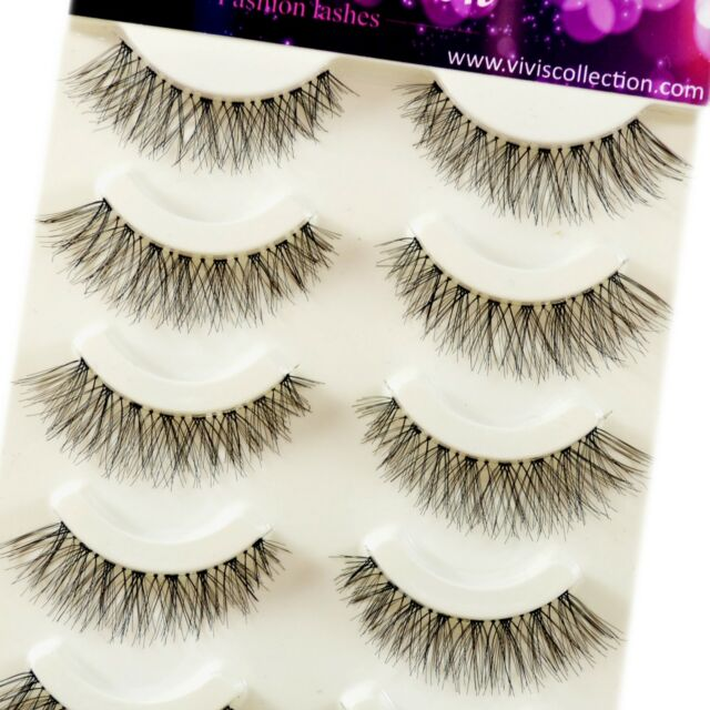 Vivis 5 Pairs V000 Natural Demi Wispies Eyelashes False Eye Lashes Top Selling