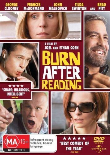 1 of 1 - Burn After Reading (2008) Brad Pitt, George Clooney - NEW DVD - Region 4