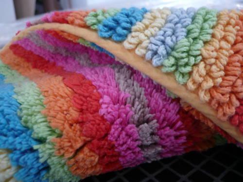 CAWÖ-Lifestyle I Badteppich MultiFarbe Streifen, 60x100 cm, 100% Baumwolle,  NEU | Verschiedene Stile und Stile