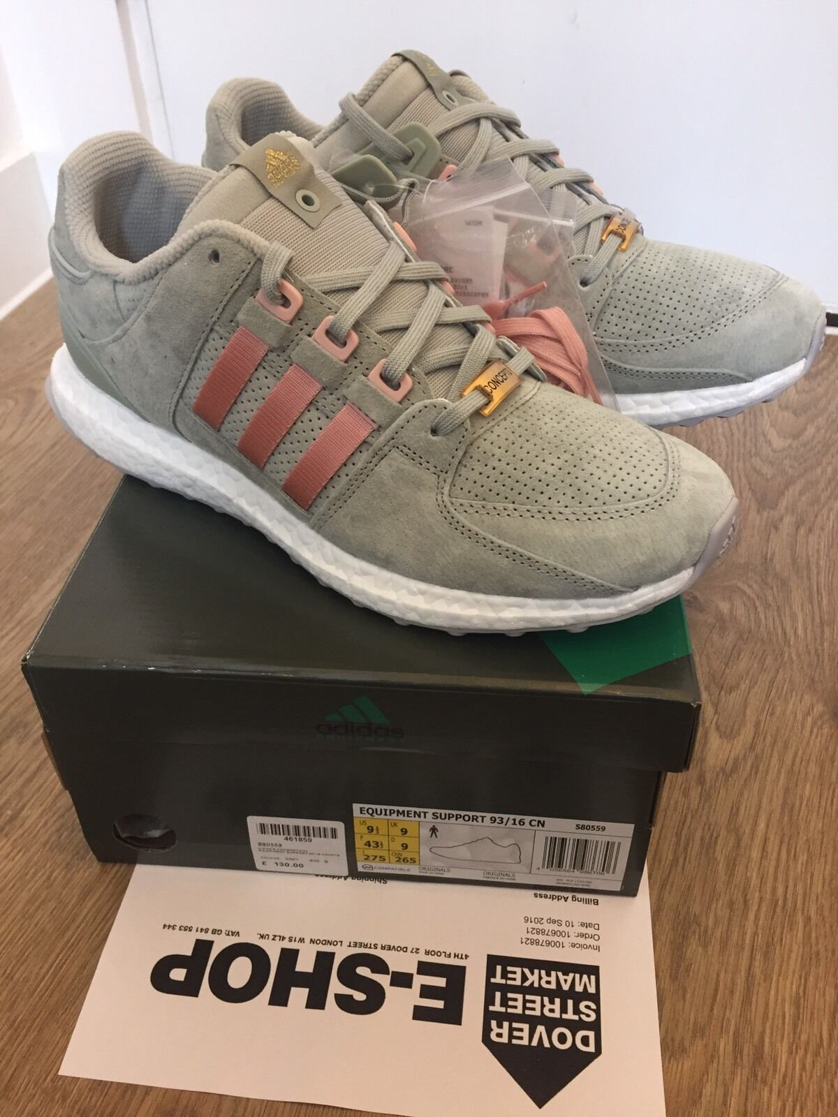 outlet store 5a95d ac40f ADIDAS ADIDAS ADIDAS CONSORTIUM X CONCEPTS EQT SUPPORT 93 16 Sage UK9 573303