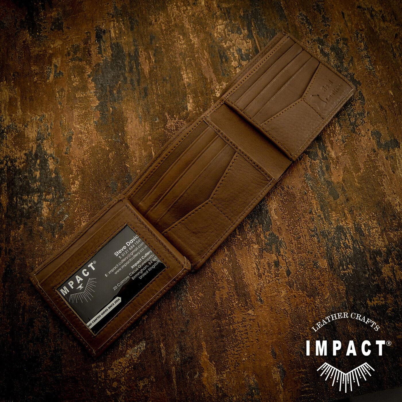 IMPACT® mens Leather Wallet   RFID   100% Genuine Leather, Card holder, designer