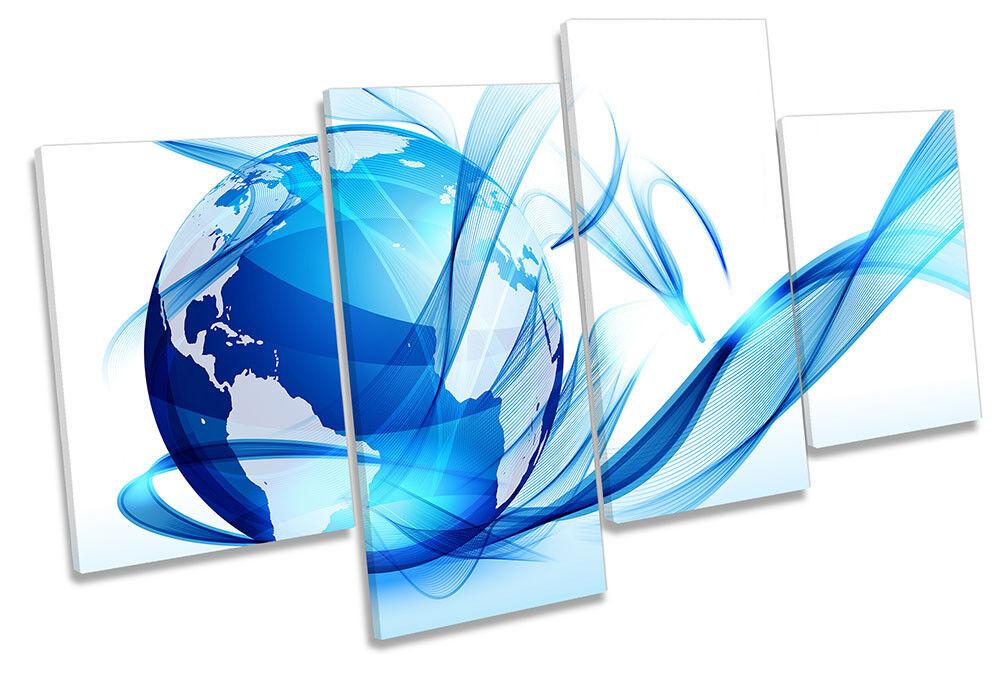 Globo Abstracto Lienzo Enmarcado Planeta Azul Arte de la pa impresión rojo  de impresión pa de múltiples ef94d2