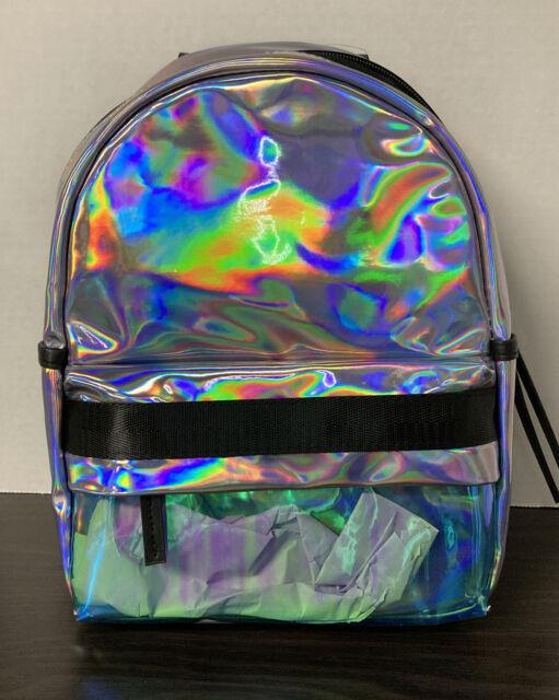 No Boundaries Iridescent Mini Backpack Bag Purse Rucksack School Travel Cool NEW