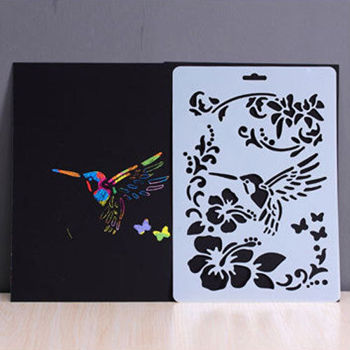 Template Painted Stencil Hollow Scrapbooking Decor Art Wall Craft Drawing Making