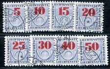 LIECHTENSTEIN PORTO 1940 21-28 gest SATZ 44€(I1079