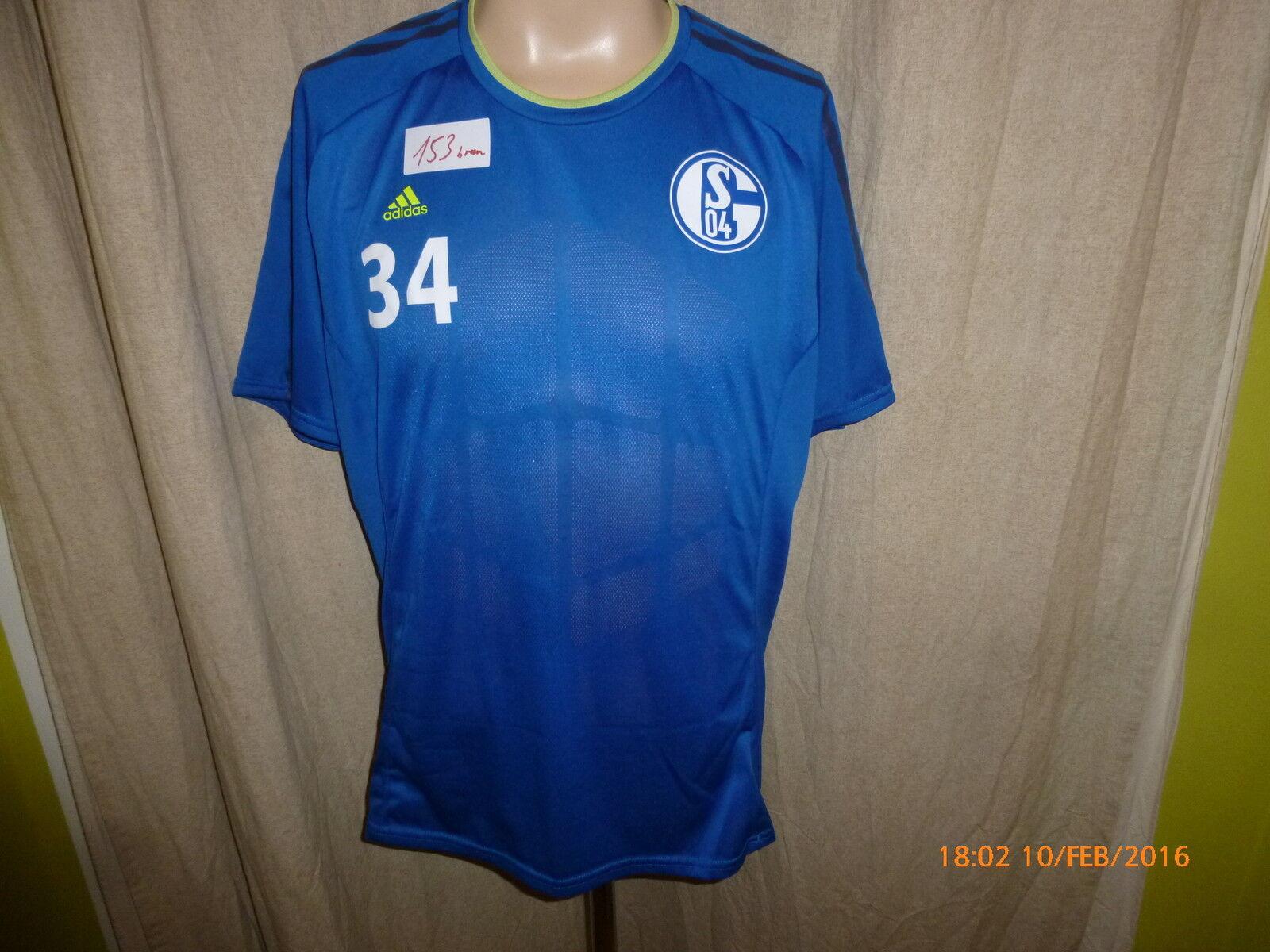 FC Schalke 04 Adidas Spieler Freizeit- Training Trikot 2013 14 14 14 + Nr.34 Gr.L ceb9df