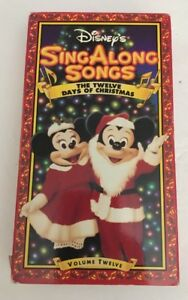 Disney Sing Along Songs Christmas Vhs.Details About Disney S Sing Along Songs The Twelve Days Of Christmas Vhs Tested Rare Ships N24