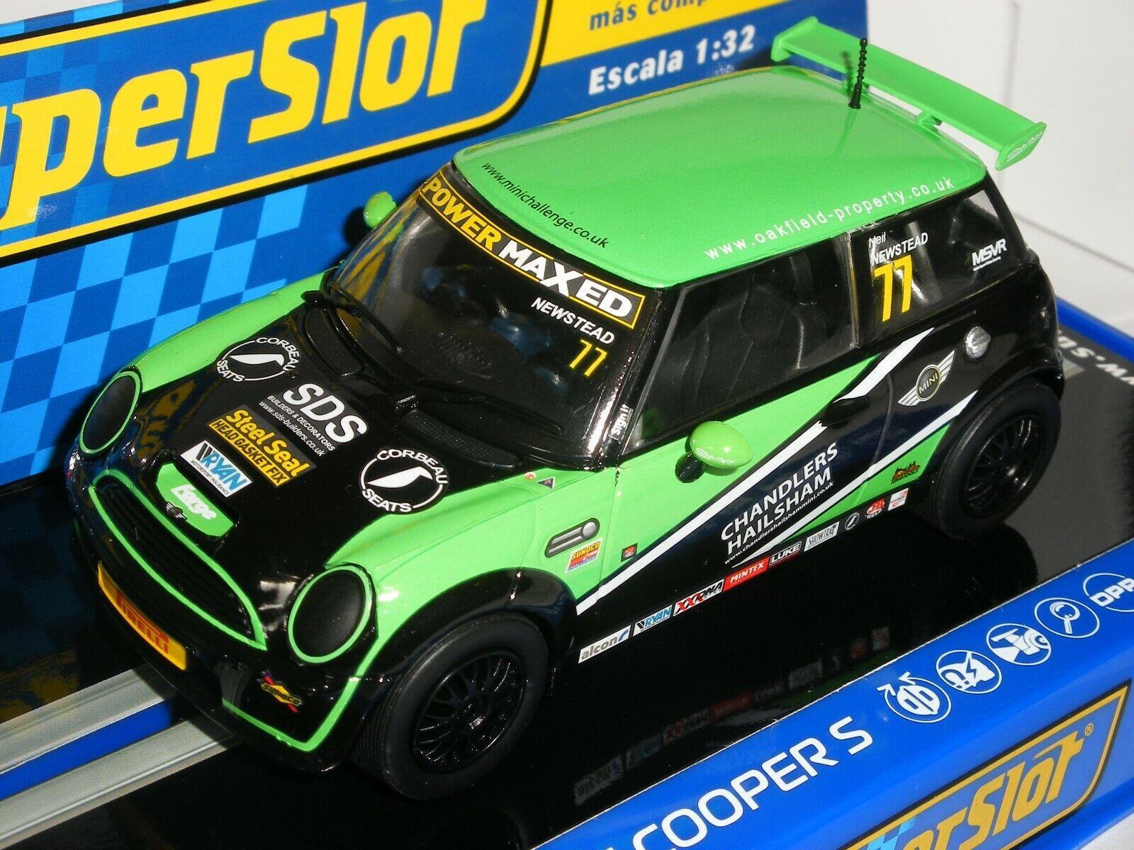 77 Neil Newstead 1//32 Scale Slot Car Superslot//Scalextric H3743 Mini Cooper S No