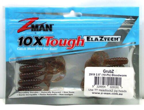 "Pack of 8 BRAND NEW ZMAN 2.5/"" Grub Z Soft Plastic Fishing Lure"