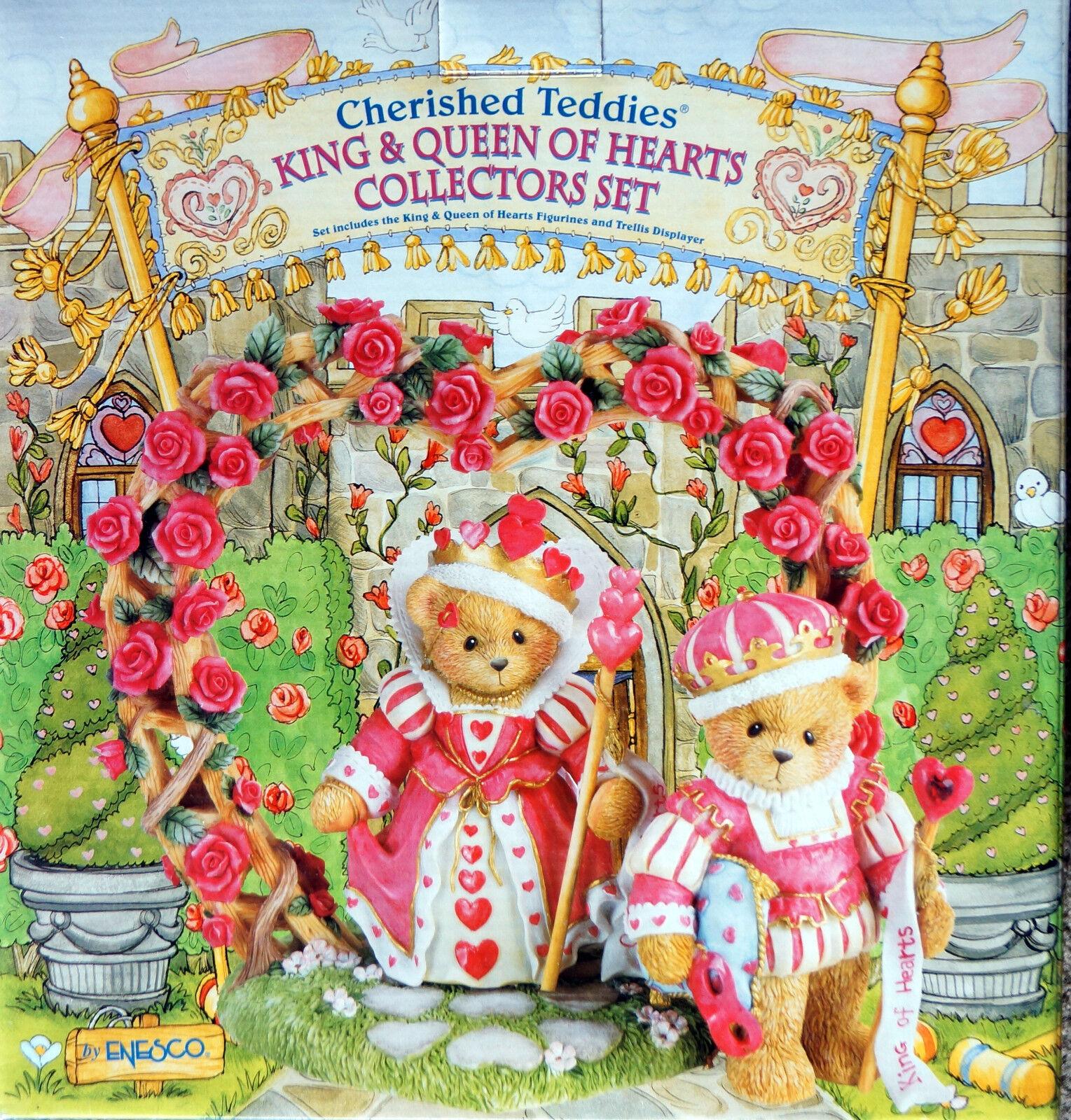 Cherished Teddies  KING and Queen Queen Queen Of HEARTS COLLECTORS SET 3er Set 09ef0e