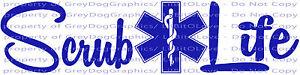 Scrub-Life-Vinyl-Decal-Star-of-Life-Nurse-Nursing-Medical-Assistant-Sticker-Dr