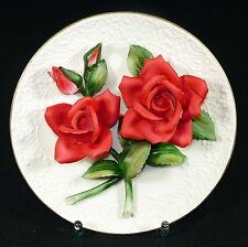 FRANKLIN MINT - Teller PRUNKTELLER Zierteller - LEGEND RED ROSES OF CAPODIMONTE