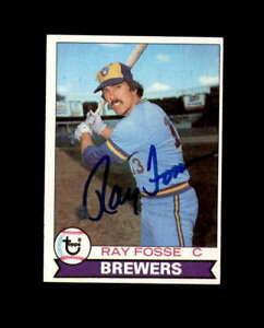 Ray-Fosse-Hand-Signed-1979-Topps-Milwaukee-Brewers-Autograph