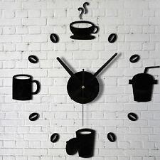 Moderne Frameless 3D Horloge murale style Chambre bricolage Accueil Décor Modèle