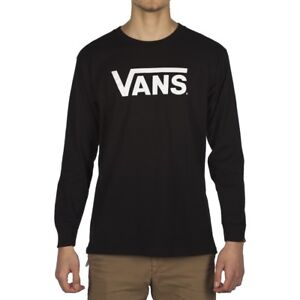 d1205dfd852f Image is loading VANS-CLASSIC-LOGO-LONG-SLEEVE-T-SHIRT-BLACK-