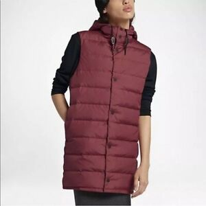 Nike black down vest size M women