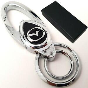 Mazda-car-metal-keyring-key-safe-fob-case-cover-badge-holder-chain-tags
