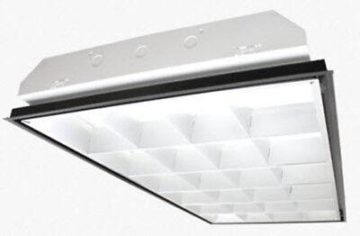 4 Lamp Cooper Lighting 32 Watt Electronic Ballast Fluorescent Lamp Troffer 2x4 Ft 3 Pack