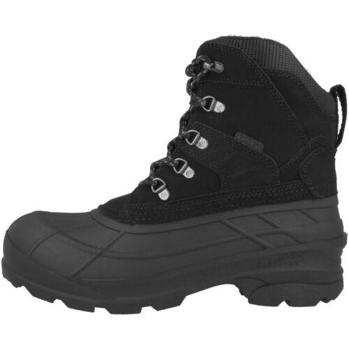 Kamik Fargo Hommes Bottes D/'hiver Bottes Neige Bottes Black wk0104-blk Chaussures