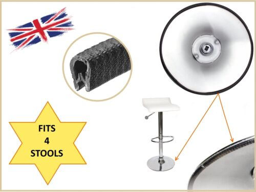 4x Bar stool protector glides rubber floor protection