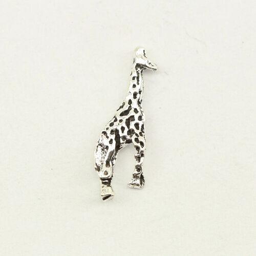 Ohrstecker Ohrring 925er Echt Silber Giraffe жираф Savanne Giraffen