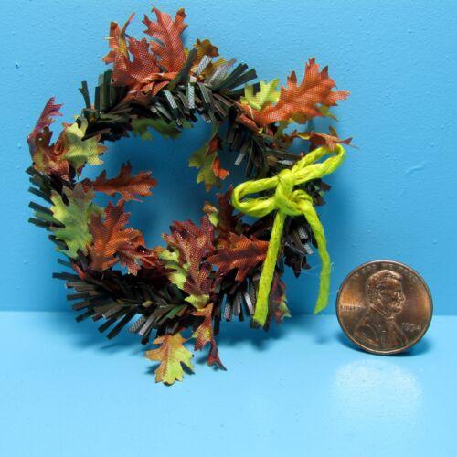 Dollhouse Miniature Fall Leaf Wreath ~ SH533
