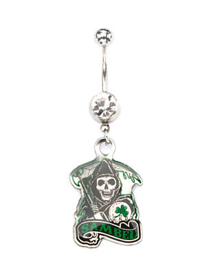 Spider Monkey Dangle Belly Button Navel Ring