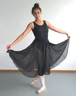 Tanzkleid Trikot mit Rock Breitträger schwarz Theater Bühne Ballett