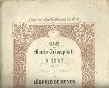 Marche Triomphale d'Isly par Leopold De Meyer Spartito per Pianoforte 1844