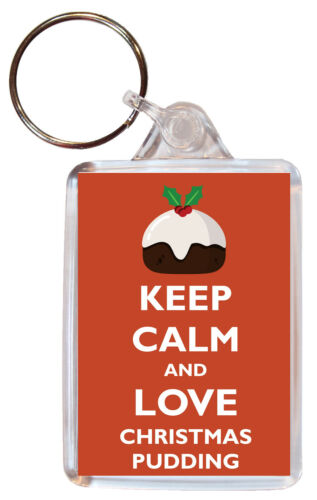 Double Sided Large Keyring Fun Gift//Present Various Keep Calm /& Love Food