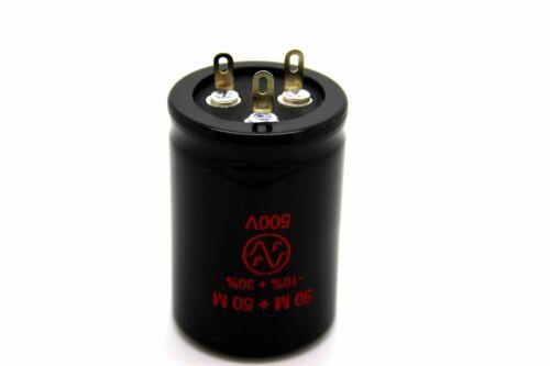 JJ 50UF//50UF 500V DUAL CAPACITOR FOR AMPLIFIER TUBE AMP