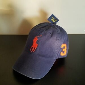 f367ced7 NWT Polo Ralph Lauren Blue/Orange Cap Adjustable Dad Hat Unisex ...