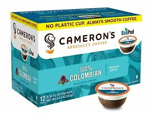 Cameron's Coffee Single Serve Pods, 100% Colombian, 12 Count (Pack of 1)