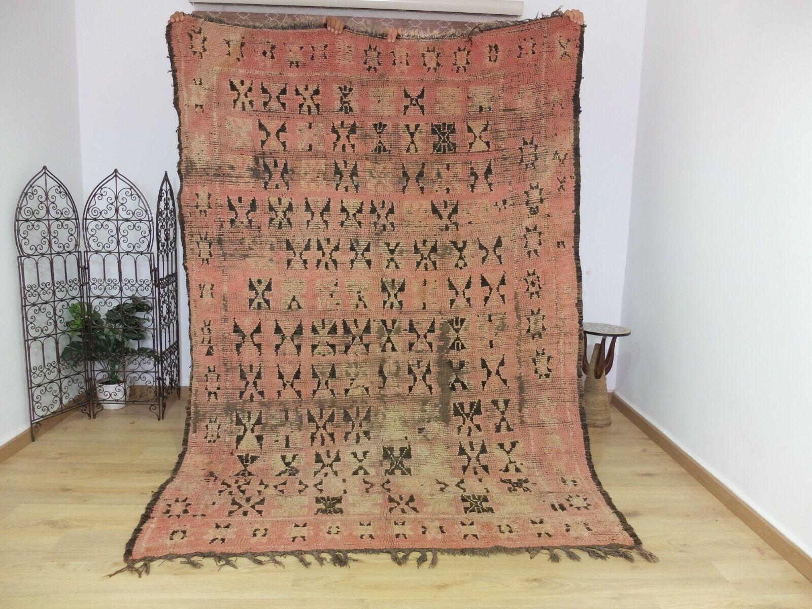 Vintage Auténtico boujaad bereber hecho a mano Alfombra Marroquí-Teppich 8' 6  5' 10