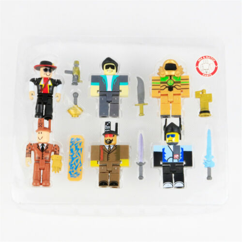 6 PCS Roblox Game Character Roblox Action Figure Kids Gift Doll Cake Topper Toys