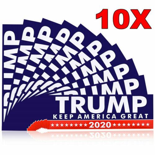 10X Donald Trump President 2020 Bumper Keep America Great Again Car Stickers