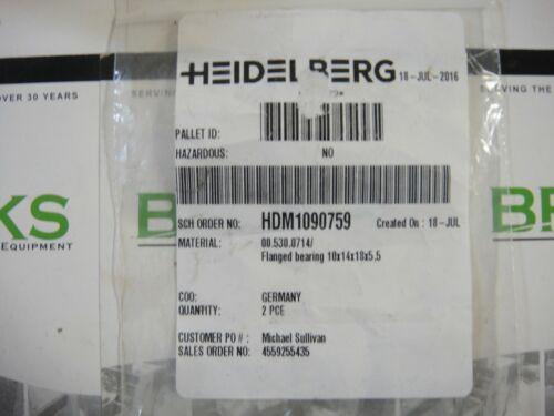 OEM Part #00.530.0714 Heidelberg QM 46 Flanged Bearing