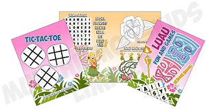 Pack-of-12-Luau-Hawaiian-Fun-and-Games-Activity-Sheets-Party-Bag-Fillers