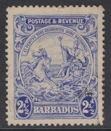 BARBADOS SG233 1925 2½d BLUE USED