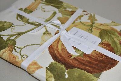 "Williams-Sonoma Botanical Pumpkin Tablecloth NWT 70 x 90/"" Thanksgiving"