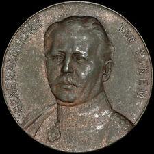 1. WELTKRIEG: Große bronzierte Zink-Medaille 1914. GENERALOBERST KARL VON EINEM.