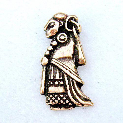 Kette Anhänger Walküre-Amulett von Tuna aus der Wikingerzeit