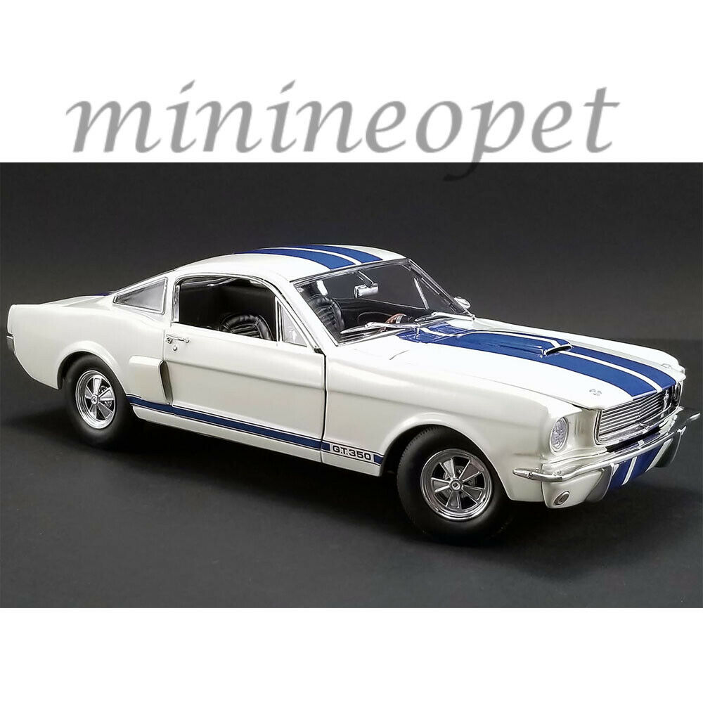 ACME A1801833 1966 SHELBY GT 350 SUPERCHARGED 1 18 Weiß with Blau STRIPES