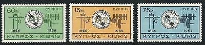 Zypern Aus 1965 ** Postfrisch Minr 253-255 BerüHmt FüR AusgewäHlte Materialien Herrliche Farben Und Exquisite Verarbeitung 100 Jahre Uit Neuartige Designs