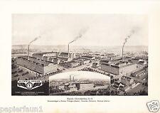 Kienzle Uhrenfabrik Schwenningen Reklame Kunstdruck 1921 Uhr Komotau Villingen